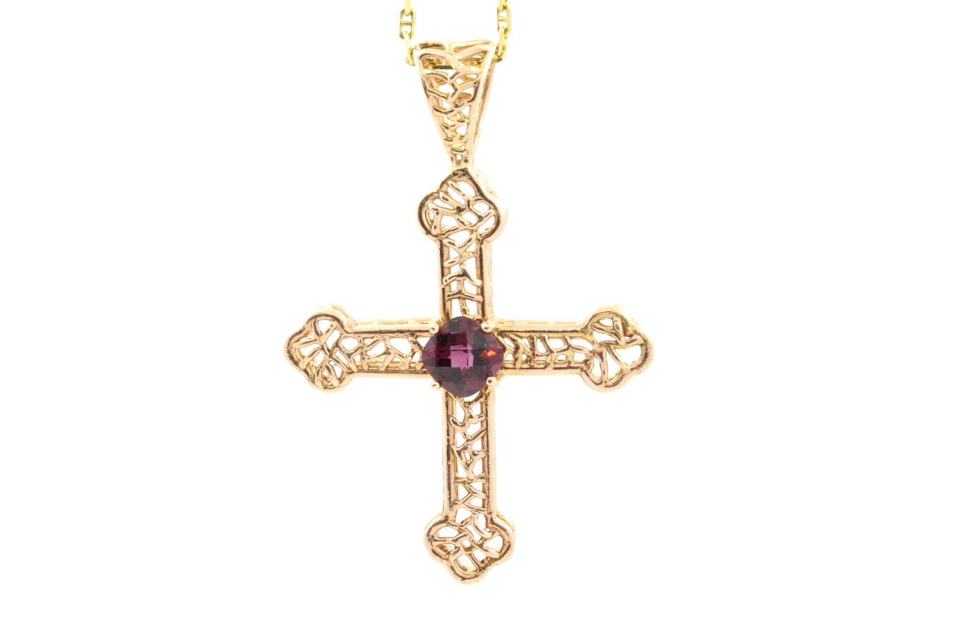 rose gold cross steve kriechbaum custom fine jewelry